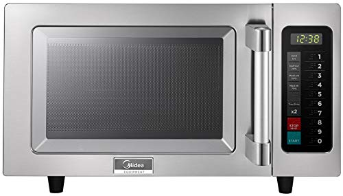 Midea Equipment 1025F1A Stainless Steel Countertop Commercial Microwave Oven, 1000W