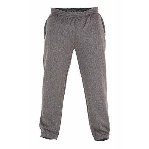 Duke - Pantalones de chándal en Talla Grande con Dobladillo Abierto Modelo Albert para Hombre (8XL/Gris)