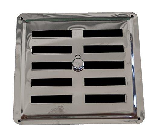 Ajuste aire Vent de acero inoxidable AISI 304 (150 mm x 145 mm), rejilla de ventilación Rejilla Salida De Aire Rejilla de acero inoxidable no magnético), Regular, Convección/entrada, regulado Louvre