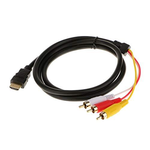 DingMall - Cable de HDMI macho a 3 RCA de audio adaptador convertidores de vídeo para TV (1,5 m)