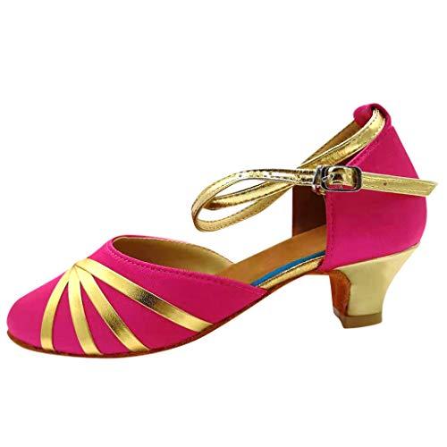 Mädchen Tanzschuhe für Latein Salsa Ballsaal Tango Dance Schuhe 29 EU(Pink)