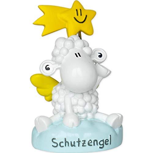 Sheepworld 49728 Fotohalter, Schutzengel, Schaf, Polyresin, 8 cm x 5 cm