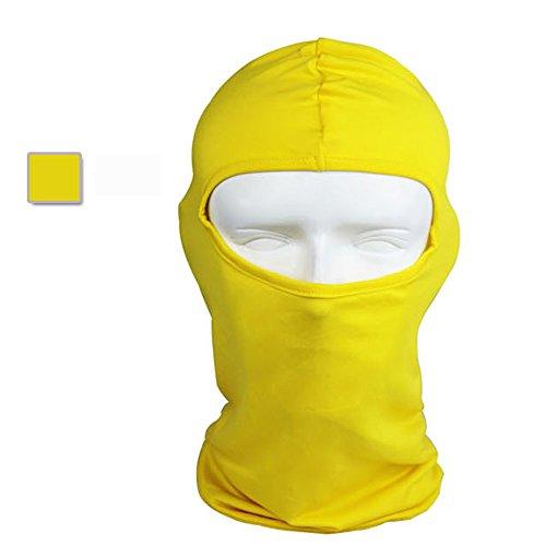 Ultra-thin headband Ski Bike Bicycle Face Mask Outdoor Sports Helmet Balaclava Full Face Mask For Sun UV Protection (yellow)