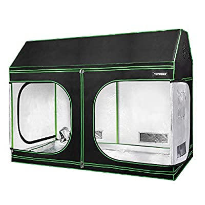 """VIVOSUN 96""""x48""""x72"""" Indoor Grow Tent, Roof Cube Tent with Observation Window and Floor Tray for Plant Growing"""