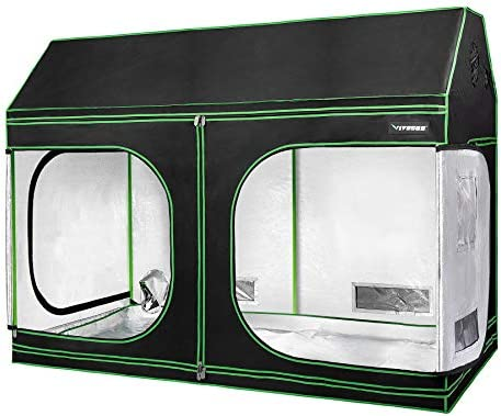 VIVOSUN 96 x48 x72 Indoor Grow Tent Roof Cube Tent with Observation Window and Floor Tray for product image