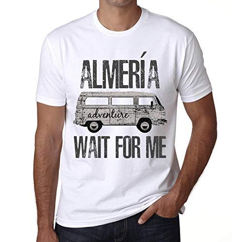 Hombre Camiseta Vintage T-Shirt Gráfico ALMERÍA Wait For Me Blanco