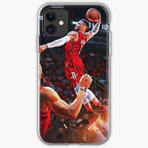 5TheWay Russel Westbrook Case Custodia Protettiva per Telefono con Design a Scatto/Vetro per iPhone, Samsung, Huawei - TPU Antiurto per Interni protettivi
