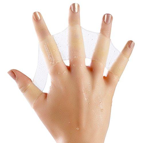 Speeron Schwimmhandschuhe: Schwimmhäute für die Finger, Größe L (Handpaddel Schwimmhäute)