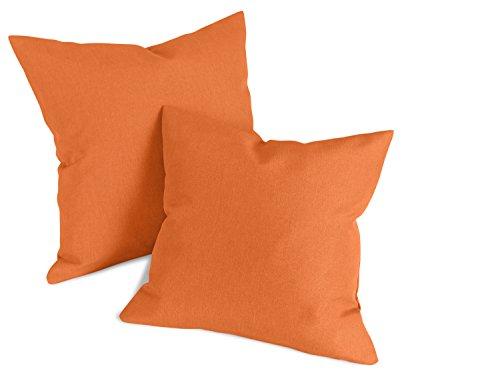 npluseins Doppelpack zum Sparpreis - Milano - Kissenhüllen erhältlich in 23 Unifarben und 2 verschiedenen Größen - hochwertiger Polsterstoff mit...