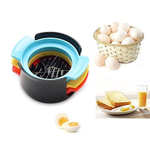 sylbx EierSchneiden,Eierschneider Edelstahl Spülmaschinenfest,3 in 1 Multifunktionale Eier Schneiden mit Edelstahldraht-Schneidlinie zum Schneiden von Gekochten Eiern,Salaten,Erdbeeren,Pilzen