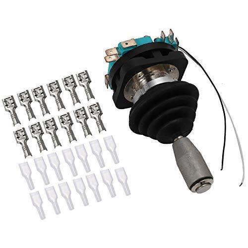 Gaetooely Interruptor de Joystick de 30 Mm con Interruptor de BotóN Pulsador Interruptor Basculante de 4 Posiciones Interruptor Cruzado de Brazo úNico Hkf4-11A-4 Reinicio