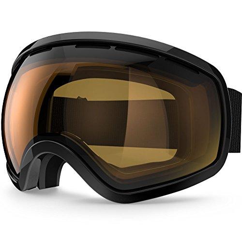 ZIONOR Lagopus X10 Rahmen / Rahmenlos Snowboard Skibrille mit Abnehmbar PC Linse 100{72ea7a9ff2be1bce5877e17ccaa87a010625cb9896e7f48e8317bb576fe0f314} UV400 Schutz Anti-Fog Periphere Anzeigen mit Fixpunkt Anti-Rutsch