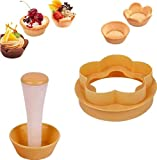 【Cake mold】 You can get a beautiful pastry shell in a few minutes. 【Perfect fit】 Whether you are making pies, egg tarts, lattice dough, cupcakes, etc., this is the tool for you. 【Perfect design】 Seamless percussion on the shell, accurate filling, bur...