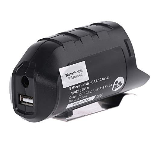 Yintiod USB Adapter Ladegerät Holster Ersatz für BOSCH Professional Li-Ion Akku 10,8 V / 12 V BHB120 AC/DC Adapter Netzteile