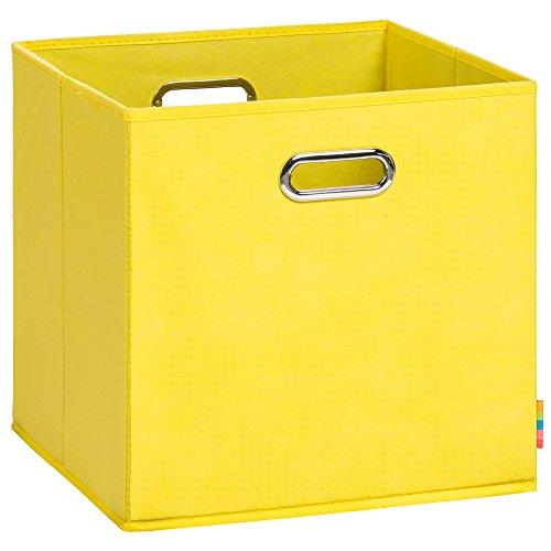 (H&S) Aufbewahrungsbox LEA - Faltbox - Korb - 33x33x33 cm - (Gelb)