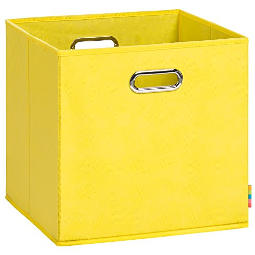 Schmetsdorf (H&S) Aufbewahrungsbox LEA - Faltbox - Korb - 33x33x33 cm - (Gelb)