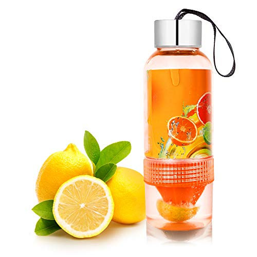 OMG-Deal Active Infusion Water Bottle, Citrus Fruit Infusion, BPA EA Free...