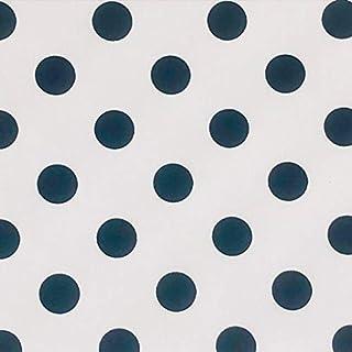 Tela Lunares Negro-Blanco 5mm Ancho 1.50 Mtrs LAS TELAS .. 1 Mtr.