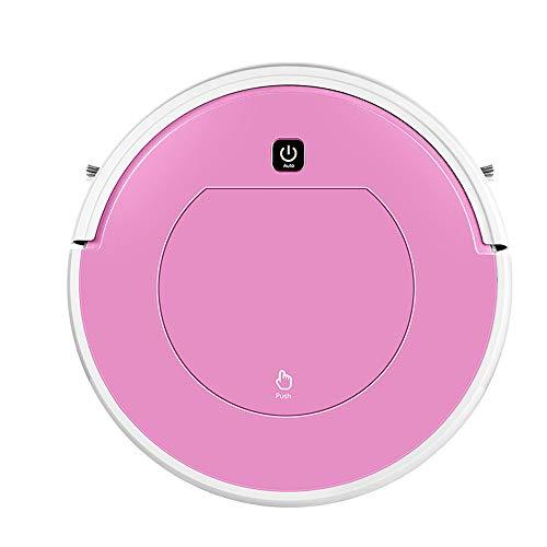 Pang Hu Aspirador doméstico Inteligente/Robot de Barrido Completamente automático/Barrido y Arrastre Una máquina de Cuerpo/Anticolisión/Limpieza automática,Pink