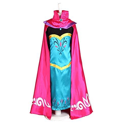 Owenqian Kleider für Mädchen-Party Mädchen Langarm Kleid Cosplay Kinder Prinzessin Long-Kleider mit Umhang Kostüm Zeigen Kleid for Weihnachten (Size : 130cm)