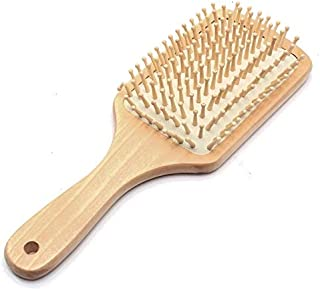 1Pc Wooden Hair Vent Paddle Brush Hair Keratin Care Spa Massage Antistatic Comb Styling Brushes Tools