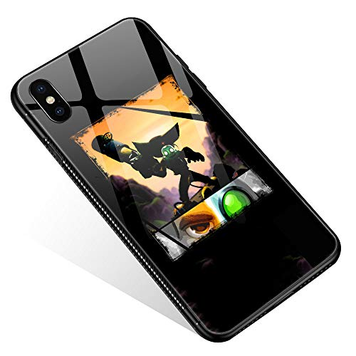 iPhone XR Case,Tempered Glass iPhone XR Cases Bombard The Enemy for Women Girls Boys, Pattern Design Shockproof Anti-Scratch Case for Apple iPhone XR