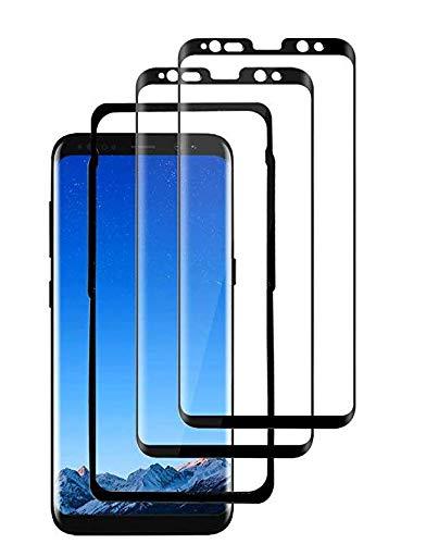 Protector de pantalla de cristal templado para Samsung S8 Plus [blanco] [compatible...