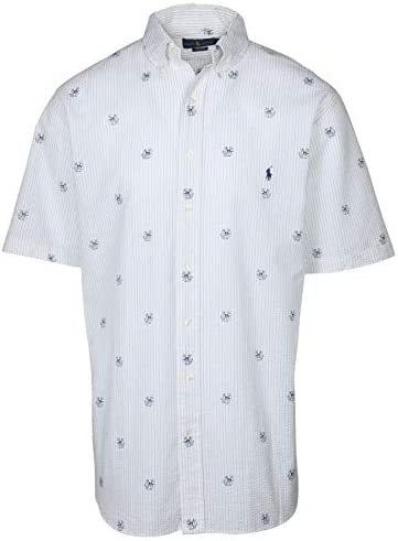Polo RL Men s Big and Tall Classic Fit Dog Anchor Shirt 2XLT White product image