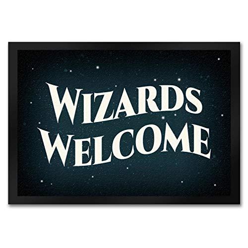 trendaffe - Wizards Welcome Fußmatte Zauberer Magie Magic Haustüre Wohnung Stern Sterne