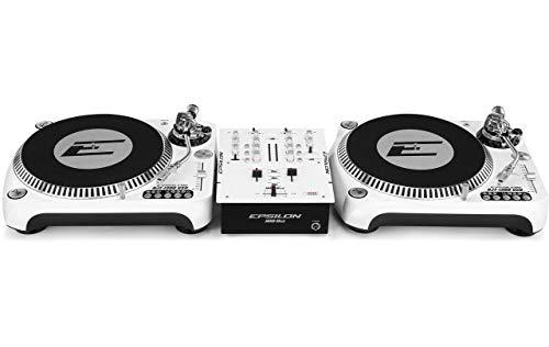 DJ Starter - 2x Epsilon Plattenspieler + Epsilon 2-Kanal Mixer Bundle