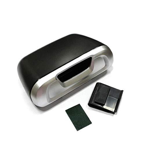 Wakauto 1pcs Bote de Basura del Coche Universal Mini Bote de Basura portátil Almacenamiento de Basura Bote de Basura de plástico Reutilizable para vehículos (Plateado)