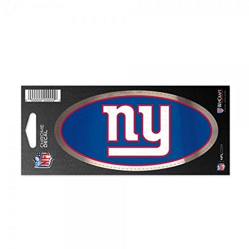 New York Giants Officiële NFL Stickers Chroom in 7,6 x 17,7 cm