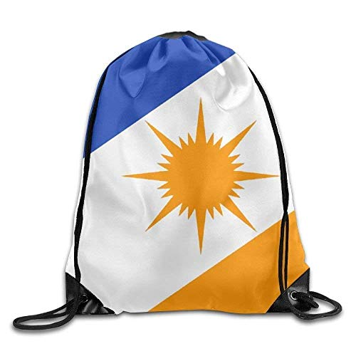 Etryrt Zaino con Coulisse,Borse Sacca,Sacchetto Tocantins Flag Personalized Gym Drawstring Bags Travel Backpack Tote School Rucksack