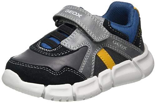 Geox Baby-Jungen B FLEXYPER Boy C Sneaker, (Anthracite/Black), 21 EU