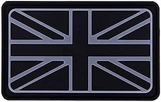 Morton Home British Union Jack Rubber Badges Patch England Flag UK Great Britain Iron-On Emblem (Black)