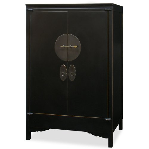 Buy Bargain Hand Crafted 42in Ming Style Elmwood Wedding Cabinet - Black