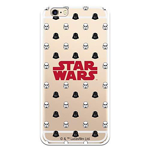 Funda para iPhone 6-6S Oficial de Star Wars Patrón D/S para Proteger tu móvil. Carcasa para Apple de Silicona Flexible con Licencia Oficial de Star Wars.