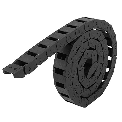 Black Plastic Drag Chain Cable Carrier 10 x 15mm for CNC Router Mill