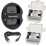 Newmowa 互換バッテリー 2個 + 充電器 セット
