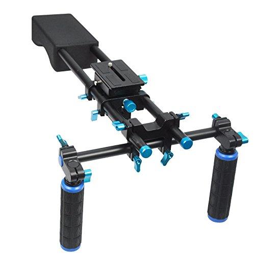 Cámara réflex digital Koolehaoda soporte estabilizador de hombro para cámara DV HDV
