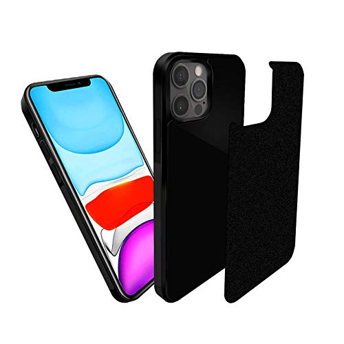 imluckies Anti Gravity Phone Case Compatible with iPhone 12 Pro Max, Goat Case Magic Nano Stick to Glass, Tile, Whiteboards Smooth Flat Surface, Free Hands