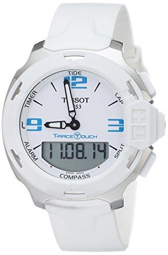 Tissot Men's T0814201701701 T-Race Touch Analog-Digital Display Swiss Quartz White Watch