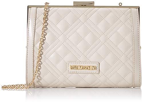 Love Moschino Damen Jc4289pp0a Handtasche, Elfenbein (Ivory), 6x15x21 Centimeters