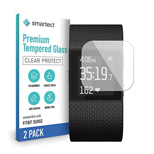 smartect Schutzglas kompatibel mit Fitbit Surge [2 Stück] - Tempered Glass mit 9H Festigkeit - Blasenfreie Schutzfolie - Anti-Kratzer Bildschirmschutzfolie