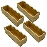 Blanca's Feel Organizador Madera Bambú Multiuso - Juego de 4 Cajas para Cocina...