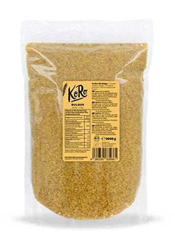 KoRo - Bio Bulgur 2 kg - Getreide zum Koche ohne Zusätze in Vorteilspackung zum Vorteilspreis