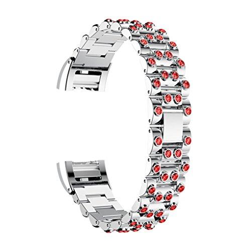 Vovotrade Voor Fitbit Charge 2, echt roestvrij staal, intelligent horlogebandje voor Fitbit Charge 2 (A)