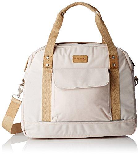 Basil Gepäckträgertasche Portland Businessbag Fahrradtasche, Creme, 40 x 17 x 33 cm