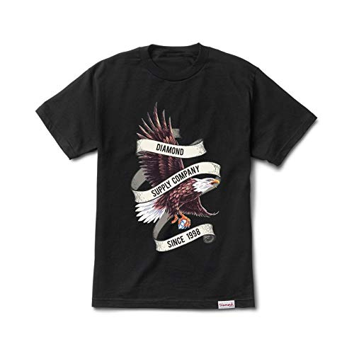 Diamond Supply Co. Men's Bald Eagle Short Sleeve T Shirt Black 2XL