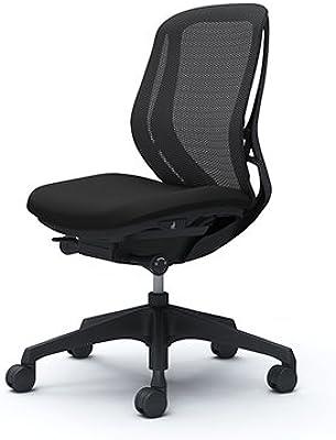 オカムラ オフィスチェア シルフィ― ローバック メッシュ 肘無し 樹脂脚 ブラックフレーム C631XR-FMP1 ブラック
